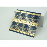 6 Layer High Frequency Material HDI PCB Blue Solder Mask  BGA