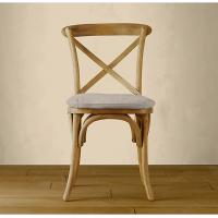Wholesale Upholstered metal and wood kitchen chairswith Cross Back for dining table side from china suppliers