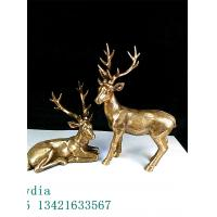 Wholesale Animal Files Spotted Deer  Axis Deer in Find Bronze Finish Designed for Anime Collectors from china suppliers