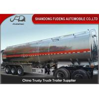Wholesale 45 cbm FUWA axle petrol fuel tanker semi trailer aluminium alloy sale from china suppliers