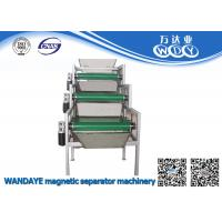 Wholesale 3 layer Permanent Magnetic Separator , Conveyor Belt Magnetic Roller Separator from china suppliers