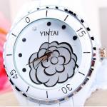 Wholesale Metal Women Quartz Watches , White Ceramic Waterproof Wrist Watch from china suppliers
