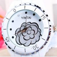 Wholesale Metal Women Quartz Watches , White Ceramic Waterproof Wrist Watch from china suppliers