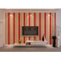 Wholesale Washable Striped Interior Room Wallpaper , PVC Embossed Wall Coverings from china suppliers