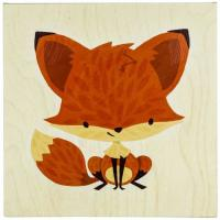 "Wholesale Small Size 14""x14"" Decorative 100% Hand Wall Art Canvas Painting For Cute Fox from china suppliers"