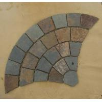 Wholesale Rusty Yellow Fan Pattern Slate Meshed Stone from china suppliers