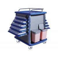 Buy cheap Double Side Emergency Medication Trolley Reliable With Four Aluminum Columns from wholesalers