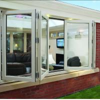 Wholesale Double panel folding glass windows prefabricated windows and doors from china suppliers