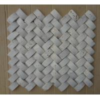 Wholesale Natural Stone Mosaic China White Travertine Wall 3D Mosaic Travertine for Wall Decoration from china suppliers