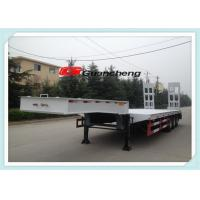 Wholesale 4 Axle 50 - 70 Ton Lowbed Semi Trailer / Heavy Duty Equipment Trailers from china suppliers