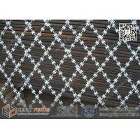 Wholesale 7.5X15cm Rhombus Hole Welded Ripper Razor Mesh Fencing | 2.4m height | 6m width from china suppliers