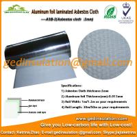 Wholesale Asbestos Cloth coated aluminum foil As heat insulation materials from china suppliers
