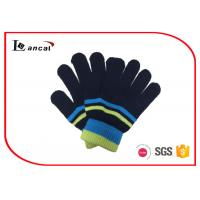 Wholesale Single Layer Mens Warm Winter Gloves Washable With Elastic Ribbed Cuff from china suppliers