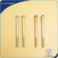 Wholesale Professional Brass Hex Head Bolts , Din 931 8.8 Bolts Carbon Steel Material from china suppliers