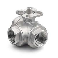 "Wholesale 1/4 "" - 4"" 3-Way Ball Stainless Steel Valves With High Mounting Pad ISO 5211 from china suppliers"