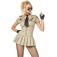 Buy cheap Womens Halloween Party Adult Costumes Sexy Sheriff Costume , XS S M L XL Size from wholesalers