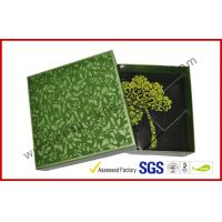 Wholesale Rectangle Afternoon Tea Chocolate Packaging Box , Handmade Green Chocolate Gift Packaging Boxes from china suppliers