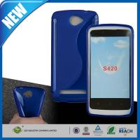 Wholesale Blue Durable DustproofRubber TPU Back Case For Lanix llium S420 from china suppliers