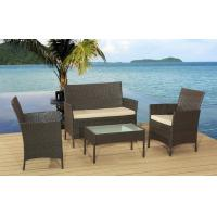 Quality Hot selling 4Pcs KD Rattan Sofa Cushioned With Promotion Price For Full Container for sale