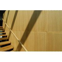 Buy cheap Auditorium Melamine Surface Wooden Perforated Acoustic Wall Panels from wholesalers