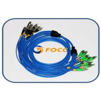 Quality 5.0mm Armored 8 Fibers FC Fiber Optic Patch Cable Singlemode Type Blue for sale