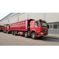 Quality Howo Strong Frame Single Axle Heavy Duty Commercial Trucks Left Steering 12 Wheels 8x4 Drive Type Red for sale