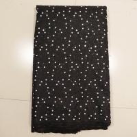 China Black Sequined Lace Fabric , Wedding Dresses on sale