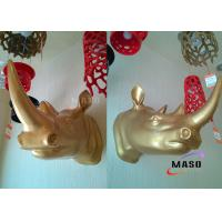 Buy cheap Maso Residential Lighting Rihno Head Wall Decorative Resin Material Wall Lamp Gold Painted Plated Optional E27 Lamp Base from wholesalers