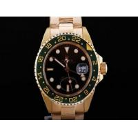 Wholesale Wholesale Rolex GMT-Master II Automatic GMT Working Full Gold With Black Dial-Green watch from china suppliers
