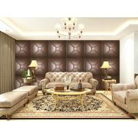 Wholesale Luxury Modern 3D Leather Wall Cladding TV Background Wallpaper Royal Office Wall Panels from china suppliers