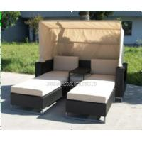 Wholesale Moden Double Sunbed Outdoor Furniture with Canopy For Poolside / Lawn from china suppliers