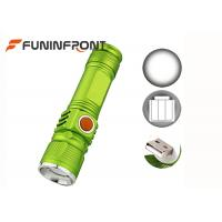 Wholesale USB Rechargeable CREE XM-L T6 Zoom LED Flashlight 3 Modes with Built-in Battery from china suppliers