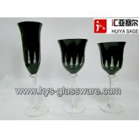Quality Engraved black glasses, flute red wine white wine glasses, 2014 new style, hot item for sale