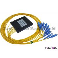 Wholesale High Accuracy ABS Type 1x8 Fiber Optic PLC Splitter For FTTH With SC Connector from china suppliers