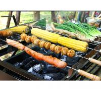 Wholesale Commercial Charcoal Bbq Grill , Black / Silver Folding Barbecue Grill from china suppliers