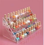 Wholesale Rotating acrylic lipstick display stand, rotating acrylic nail polish rack display from china suppliers