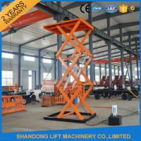 Wholesale Stationary Hydraulic Scissor Lift , 4.8m Height Material Loading Warehouse Industrial Lift Table from china suppliers
