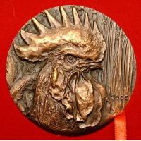 Wholesale bronze relief Cock head statue from china suppliers