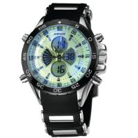 Wholesale Rubber Band Round Mens Military Watches 190mm , Black Dial Watch from china suppliers