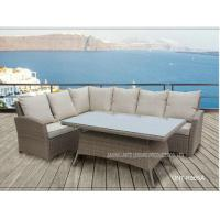 Wholesale Aluminium Metal Garden Patio Seating Sets Rattan Wicker Furniture UV Resistance from china suppliers