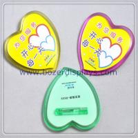 Wholesale Heart Shape Plastic Badge Holder with Safety Pin from china suppliers