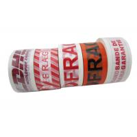 Wholesale Fragile Custom Printed Packing Tape 50mm x 66m With BOPP Film Printed in Colored Texts from china suppliers
