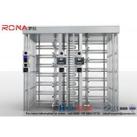 Wholesale Double Lane Full Height Turnstile 304 Stainless Steel Turnstiles CE Approved from china suppliers