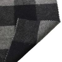 Wholesale 5.5cm Checked Fake Tartan Wool Fabric / Melton Wool Fabric For Fashion Coat from china suppliers