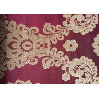 Wholesale Floral Red Jacquard Woven Fabric Classical Soft With Anti-Static from china suppliers