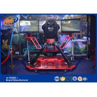 Wholesale Luxury 6 Dof Electric Cylinder Platform VR Racing Car With 3 Screens Supplier from china suppliers