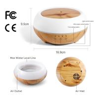 Quality Aromatherapy Essential Oil Diffuser 300ml Wooden Aroma Diffuser with 7 Color LED Lights for sale