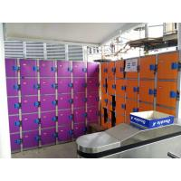 Wholesale Plastic Gym Lockers Wtih Master Combination Padlock , 4 Tier Employee Storage Lockers from china suppliers