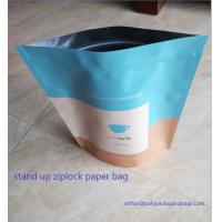 Wholesale Dry Food Foil Ziplock Bags / Craft Paper Bags With Gravure Printing from china suppliers