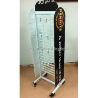 Wholesale White Coated Wire Metal Supermarket Display Shelves Floor Standing With 4 Casters from china suppliers